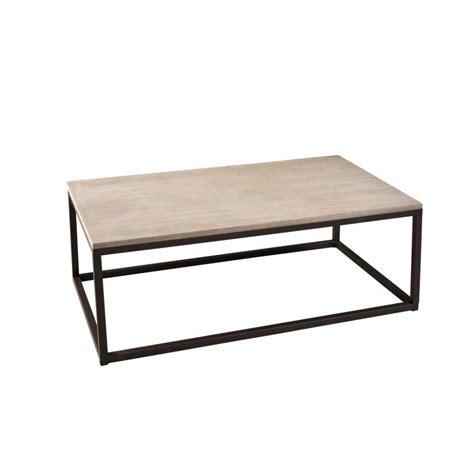 table basse industrielle rectangulaire m 233 tal et bois 115cm lali pier import