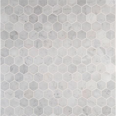 ms international carrara white hexagon 12 in x 12 in x
