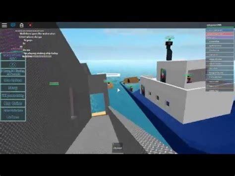 roblox sinking ship simulator