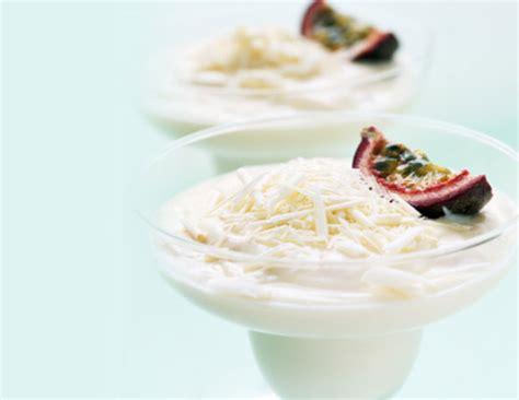 mousse au chocolat blanc et noix de coco recette thermomix
