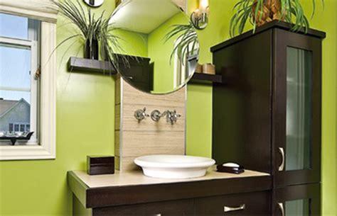 vert une couleur pour une salle de bain fraiche et tonique