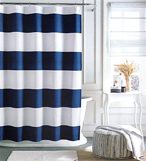 hilfiger cabana stripe shower curtain navy blue and white 72 quot x 72 quot hilfiger