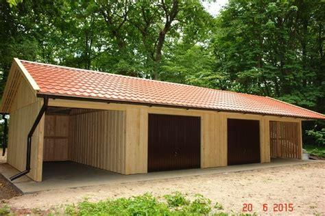 Doppelgarage Holzgarage Mit Satteldach Fertiggarage Mit