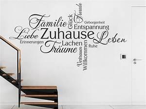 Zuhause Im Glück Jugendzimmer : wandtattoo zuhause schriften wortwolke wandtattoo de ~ Markanthonyermac.com Haus und Dekorationen