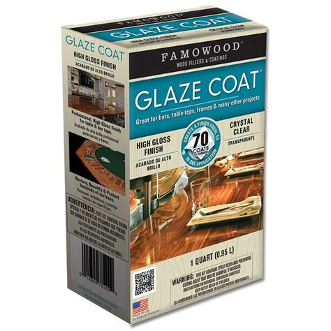 Famowood 1 Qt Glaze Coat Clear Epoxy Kit (4pack)5050080