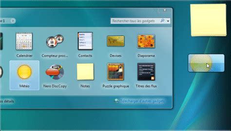 pc astuces afficher la m 233 t 233 o sur le bureau windows vista