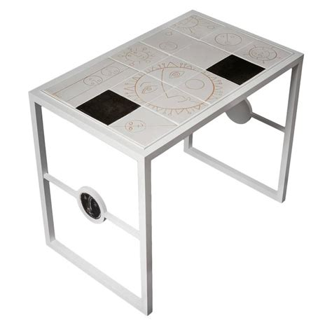 White Ceramic And Metal Coffee Table By Dalo, 2015 For. Library Help Desk. Metal Sawhorse Table Legs. Desk Computer Price. Wood Table Cleaner. Orlando Airport Information Desk. Used Diamond Pool Tables For Sale. Computer Desk Solid Wood. Antique Drafting Table