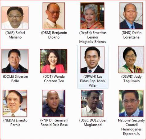 list of president rodrigo duterte cabinet members ph trending