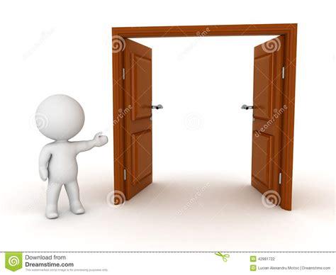 caract 232 re 3d montrant la porte ouverte illustration stock image 42881722