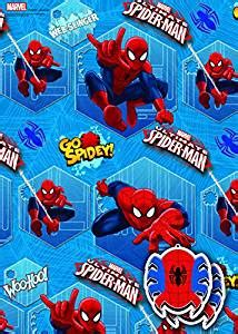 Disney Marvel Spider Man 2x Gift Wrap Sheets And 2x Gift