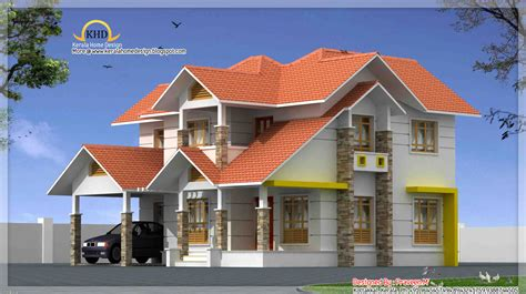 Beautiful Duplex House Elevation  2106 Sq Ft Indian