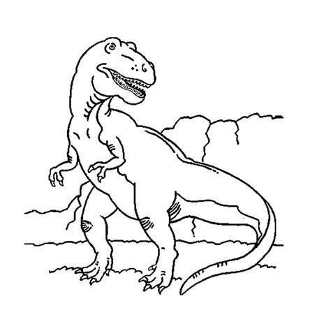 dessin tyrannosaure a imprimer