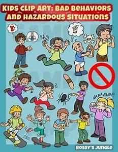 Kids clip art: bad behaviors and hazardous situations ...