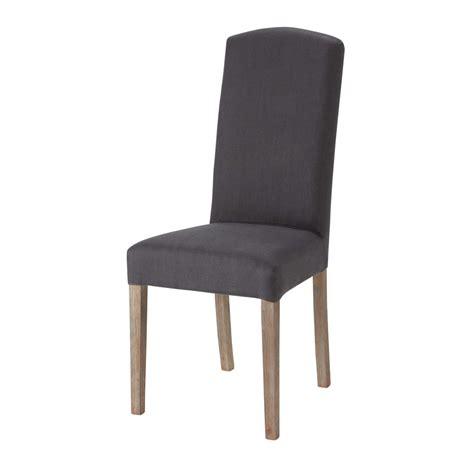 housse de chaise en anthracite maisons du monde