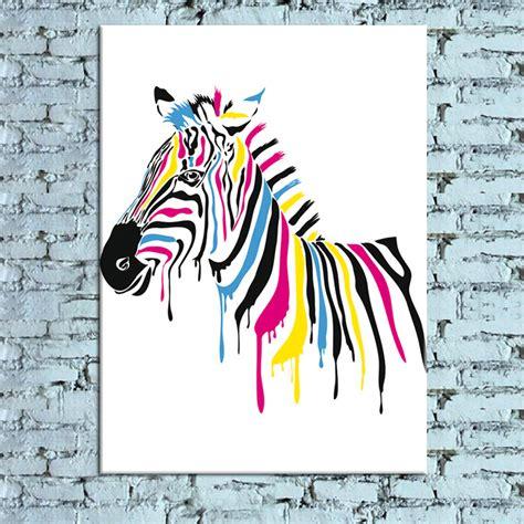 moderne nouvelle id 233 e design quot colorful zebra quot toile peinture wall image dans peinture et
