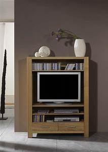 Wohnzimmer Eiche Massiv : tv regal tv board tv m bel wohnzimmer eiche massiv natur ge lt kaufen bei saku system ~ Markanthonyermac.com Haus und Dekorationen