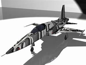 3D model F-5E Tiger II Aircraft VR / AR / low-poly MAX ...