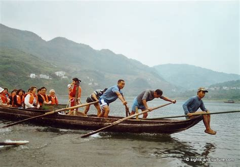 People On A Boat by Shennong River Excursion With Tujia People On A