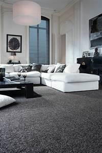 Teppich Wohnzimmer Grau : wohnzimmerteppich 65 beispiele wie sie den wohnzimmerboden mit teppich verlegen ~ Markanthonyermac.com Haus und Dekorationen
