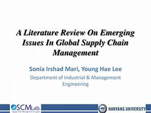 (PDF) A Literature Review On Emerging Issues In Global ...