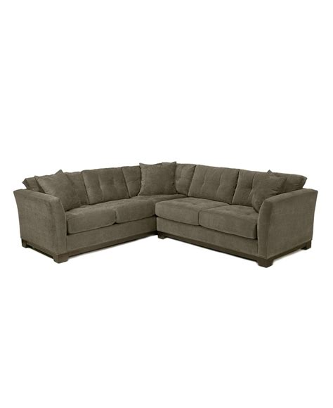 elliot fabric microfiber 2 sectional sofa