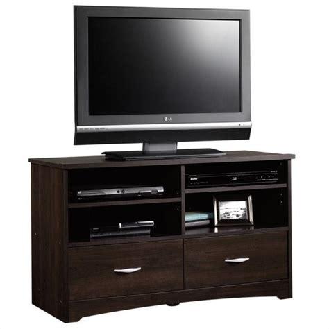 sauder beginnings dresser cinnamon cherry tv stand in cinnamon cherry 413045