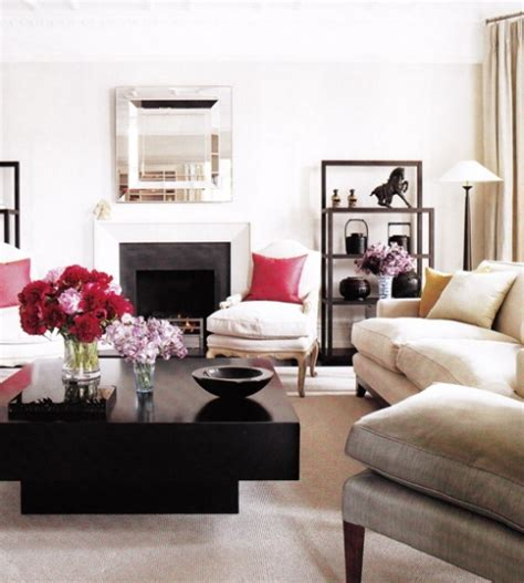 White Living Room with Black Square Coffee Table   22 Bond St.   Daily Blog