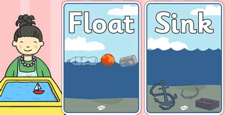Floating And Sinking Clipart
