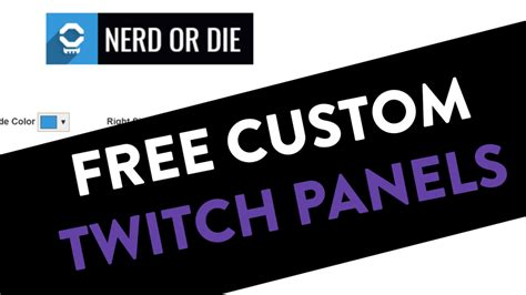 Twitch Notification Images Template Psd by Customizable Twitch Panels Nerd Or Die