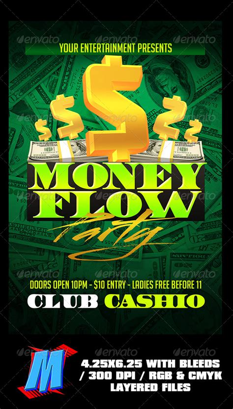 Money Flow Party Flyer Template By Megakidgfx Graphicriver
