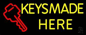 Keys Made Here 1 Neon Sign | Home Improvement Neon Signs ...