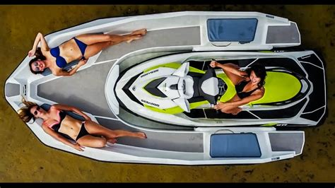Jet Ski Boat Youtube by Wave Boat 444 Boat Propelled By A Jet Ski Sealver