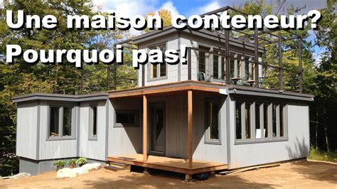 comment construire sa maison conteneur contactez maisons optimum