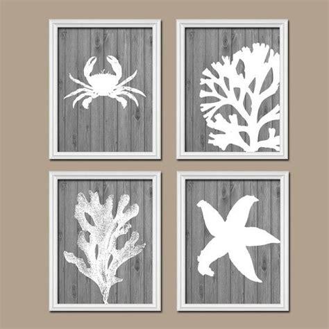 bathroom wall canvas or prints nautical coastal bathroom decor aqua starfish
