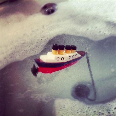 sinking in the bathtub titanic sinking boat bath