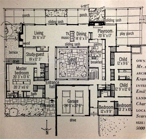 modern house plans with courtyard inspiration retro 1959 home magazine features mid century