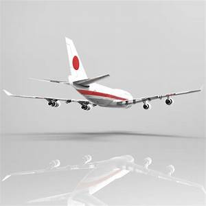 3D model Boeing 747-400 Aircraft VR / AR / low-poly OBJ ...