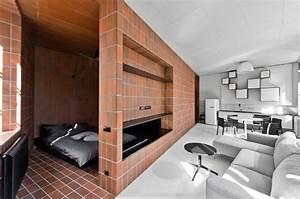 Mini Apartment Einrichten : dise o de peque o departamento de 45 metros cuadrados ejemplo de una buena separacion de zonas ~ Markanthonyermac.com Haus und Dekorationen