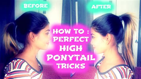 How To  Perfect High Ponytail  Tricks Youtube