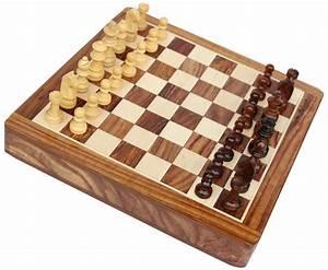 "Smart Moves - Handmade 7x7"" Rosewood Staunton Travel Chess ..."