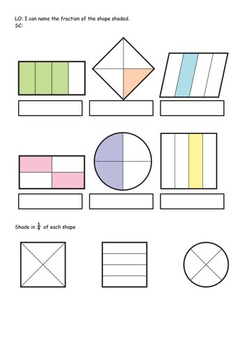 Ks1 Bundle Year 1  2  Fraction Of Shape, Shape Hunt Worksheets  Differentiated Worksheets