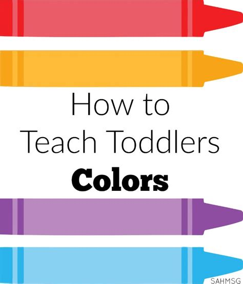 How To Teach Toddlers Colors  Toddler Lesson Plans, Learning And Activities