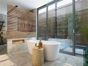 Holz Für Kamin : luxus badezimmer 49 inspirierende einrichtungsideen ~ Markanthonyermac.com Haus und Dekorationen