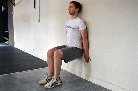 exercice de la chaise gainage fitness heroes