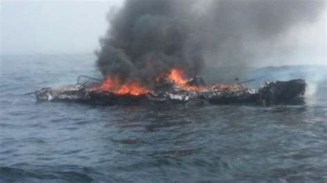 Boat Crash Good Morning America by Man Clings To Raft In Burning Boat Rescue Video Abc News