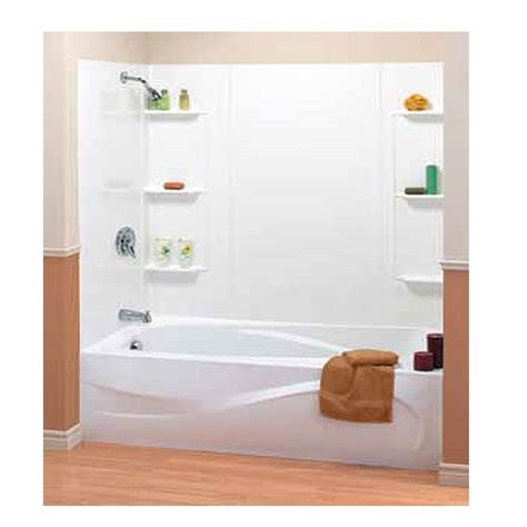 54 x 27 bathtub with surround 5 mobile home bathtub surround w shelves 54 quot x 27 quot
