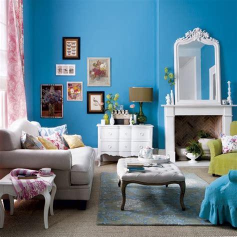 bold blue living room modern living room housetohome co uk