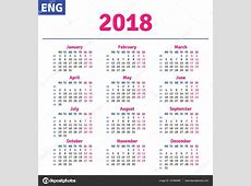 2018日历设计矢量素材_素材分享