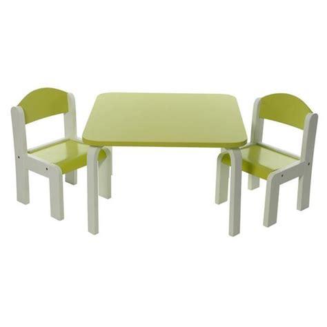 ensemble table et chaises enfant vert en bois fabio momo for achat vente table et