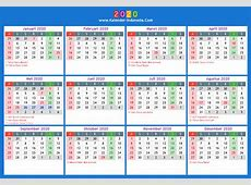 Kalender 2020 2019 2018 Calendar Printable with holidays
